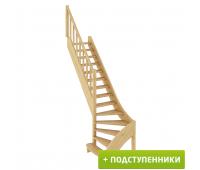 Лестница ЛС-07м/2 с подступенками, проём 870х2490, высота 3150