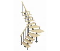 "Модульная лестница ""Фаворит"", шаг 225, высота 2025-3525"
