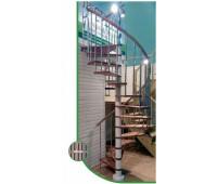 "Винтовая лестница ""Spiral color"", диаметр 1200, высота 2860-3090"