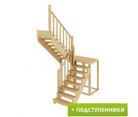 Лестница К-004м/1 с подступенками, проём 1820х2480, высота 2925-3120