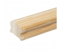 Фигурный поручень из лиственницы, срощенная переклейка, сечение 45х65мм