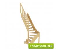 Лестница ЛС-07м/4 с подступенками, проём 870х2130, высота 2940