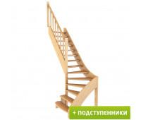 Лестница ЛС-07м/5 с подступенками, проём 870х2310, высота 2940-3150