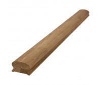Фигурный поручень из дуба, срощенная переклейка, сечение 45х65мм