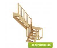 Лестница К-004м/4 с подступенками, проём 1820х2920, высота 2925-3120
