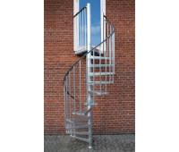 """Винтовая лестница """"Toronto"""", диаметр 1250, высота 2760"""