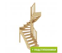 Лестница К-003м/3 с подступенками, проём 1820х1330, высота 2925-3120