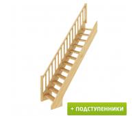 Лестница ЛС-10у с подступенками, проём 840х2215, высота 2925