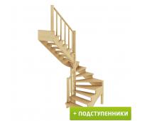 Лестница К-003м/4 с подступенками, проём 1820х1990, высота 2925-3120