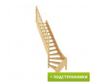 Лестница ЛС-07м/1 с подступенками, проём 870х2490, высота 2940