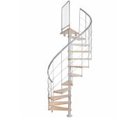 """Винтовая лестница """"Novo 3"""", диаметр 1200, высота 2714-2892"""