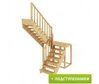 Лестница К-004м/3 с подступенками, проём 1820х2700, высота 2925-3120